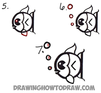Drawing a cartoon fish from lowercase letter a easy steps tutorial