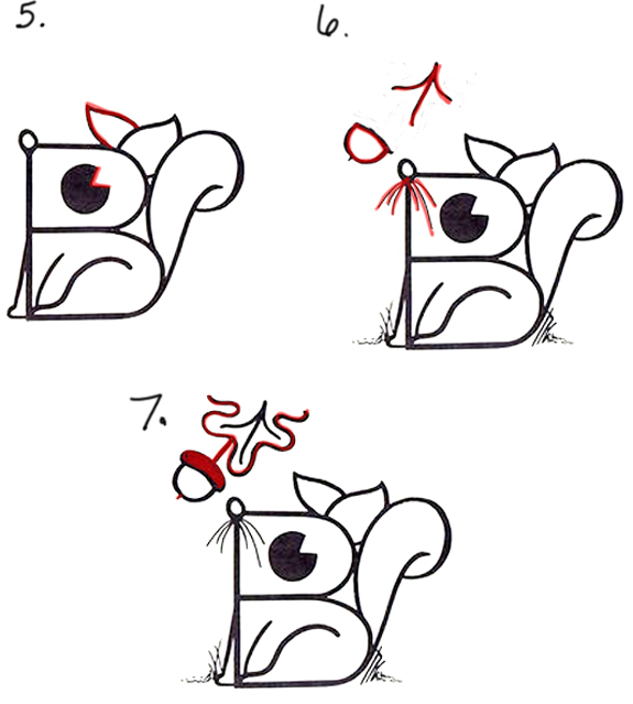 How to Draw a Cartoon Squirrel from an Uppercase Letter B Drawing Tutorial for Kids