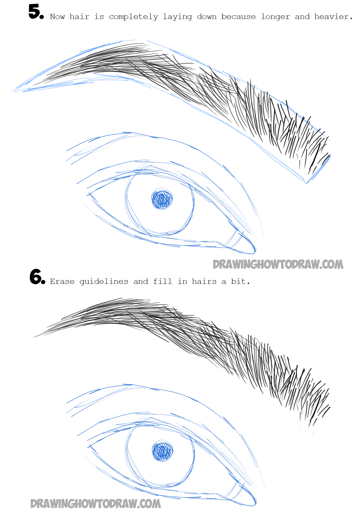 How to draw eye brows step by step drawing tutorial how for Learn drawing online step by step