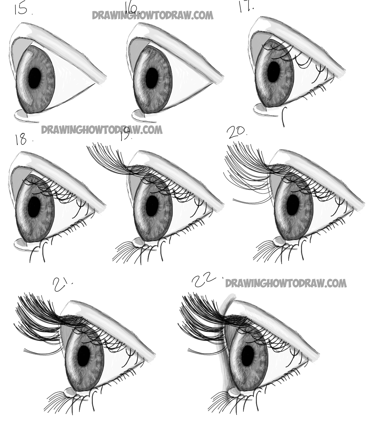 The gallery for --> How To Draw Eyes Side View