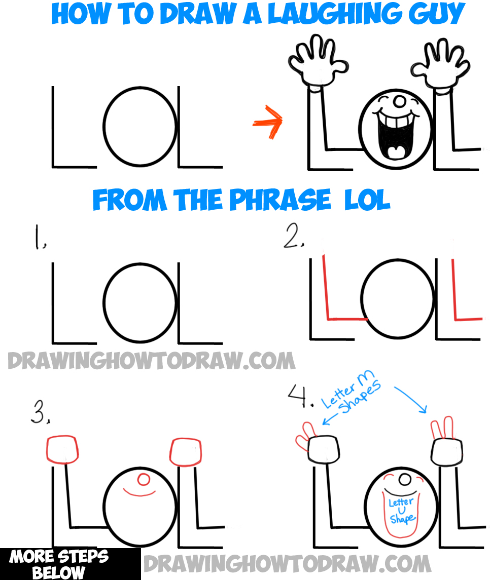 how to draw laughing eyes