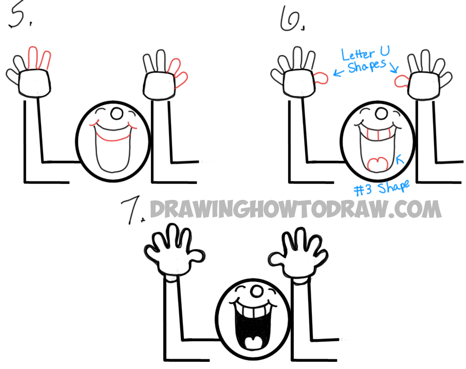 drawing an LOL Laughing Guy from Phrase LOL
