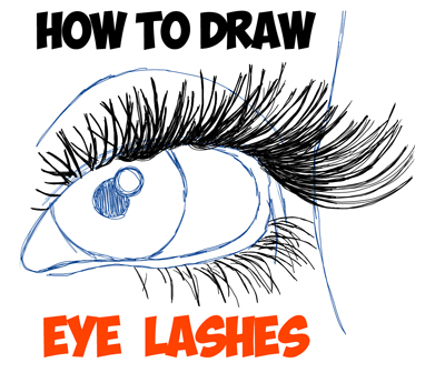 drawing eye lashes tutorial