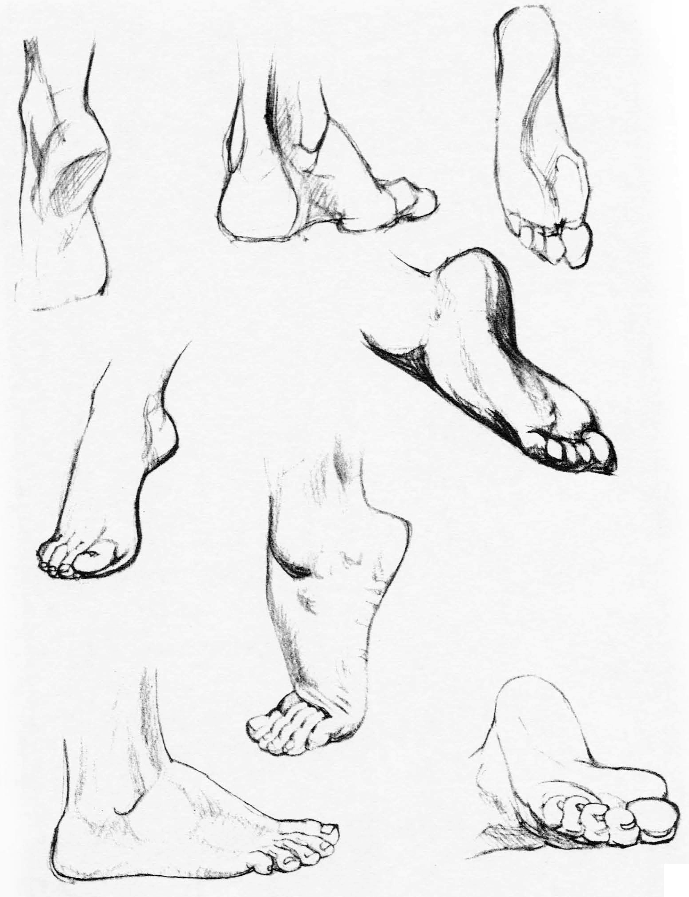 learn how to draw feet and legs