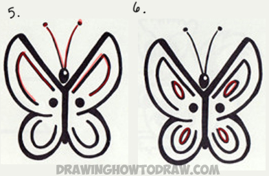 how to draw a butterfly from the letter y easy step by step drawing tutorial for kids - Simple Drawing Pictures For Children