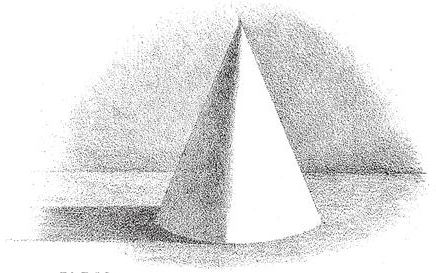 shading-cones-The darkest shade runs from the apex down the shade and near to its outer edge