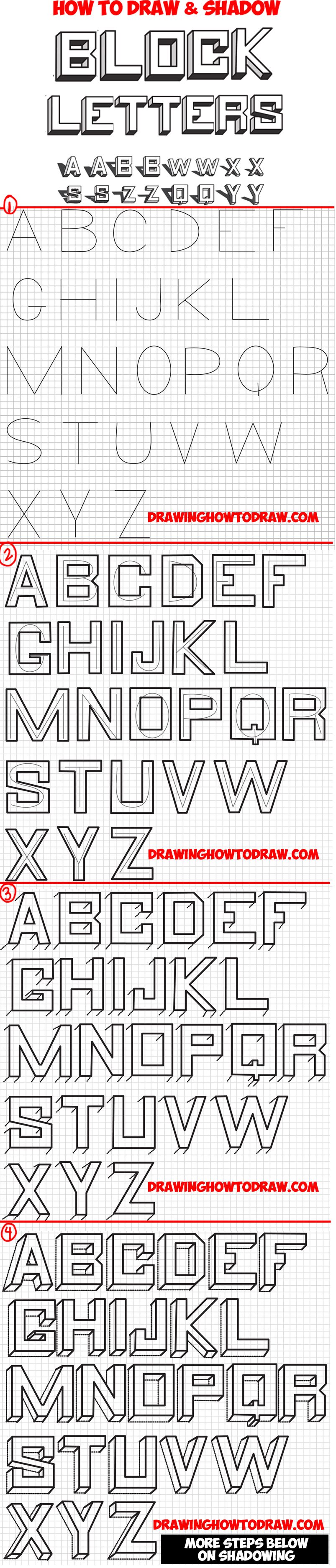 How To Draw D Block Letters  Drawing  Dimensional Bubble Letters