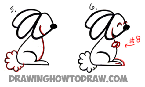 Drawing a Cartoon Rabbit with a cursive a shape