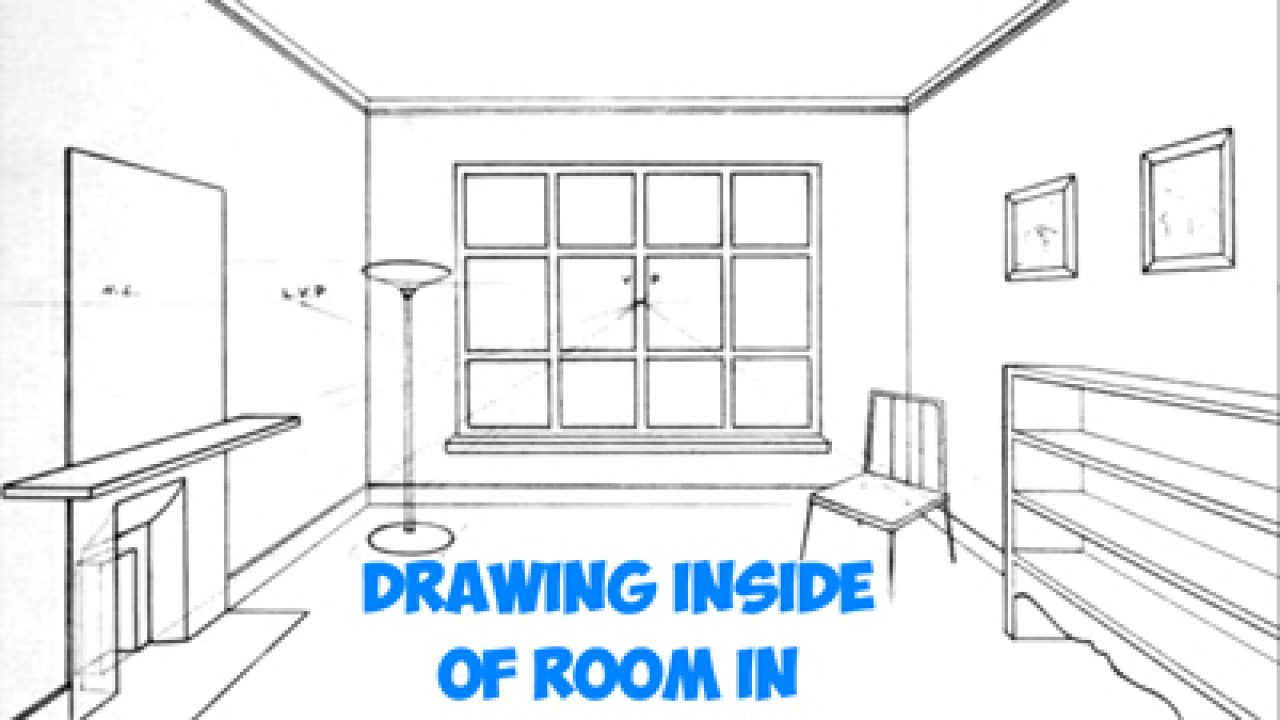 How To Draw The Inside Of A Room With 3 Point Perspective Techniques Step By Step Drawing Tutorial How To Draw Step By Step Drawing Tutorials
