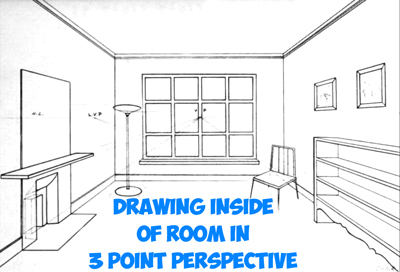 How To Draw The Inside Of A Room With 3 Point Perspective Techniques