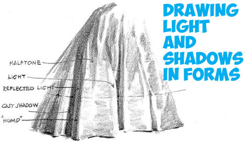 How to Shade and Add Light to Complex Forms, Shapes and Objects : Drawing Tutorial