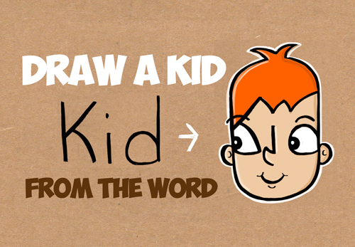 how to draw cartoon kids word toons lesson