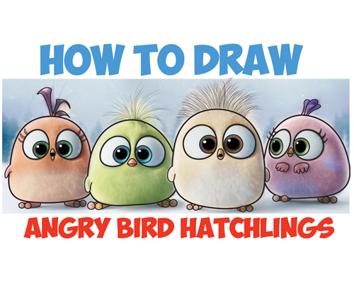 learn how to draw angry bird babies hatchlings