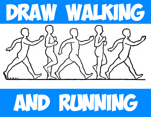 How to Draw and Animate the Human Figure Walking or Running - Huge Guide and Tutorial