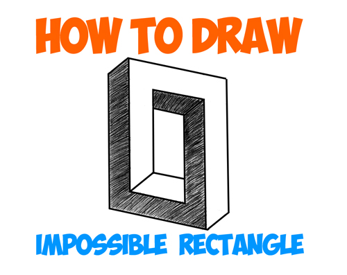 How to draw an impossible square or rectangle easy step for Steps to draw cool things