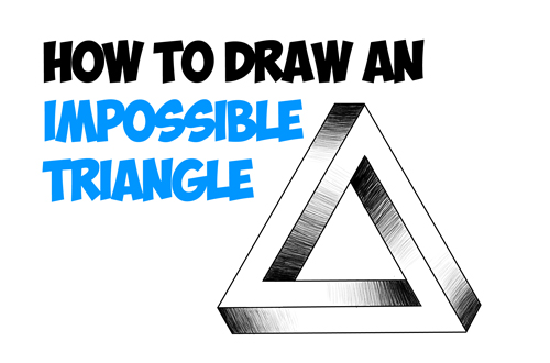 how to draw and shade impossible triangle in simple steps