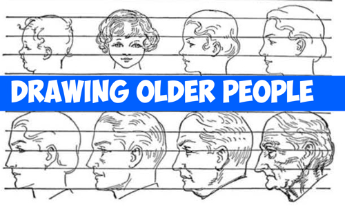 How to Draw Elderly People : Tips to Drawing Older People's Faces and Figures