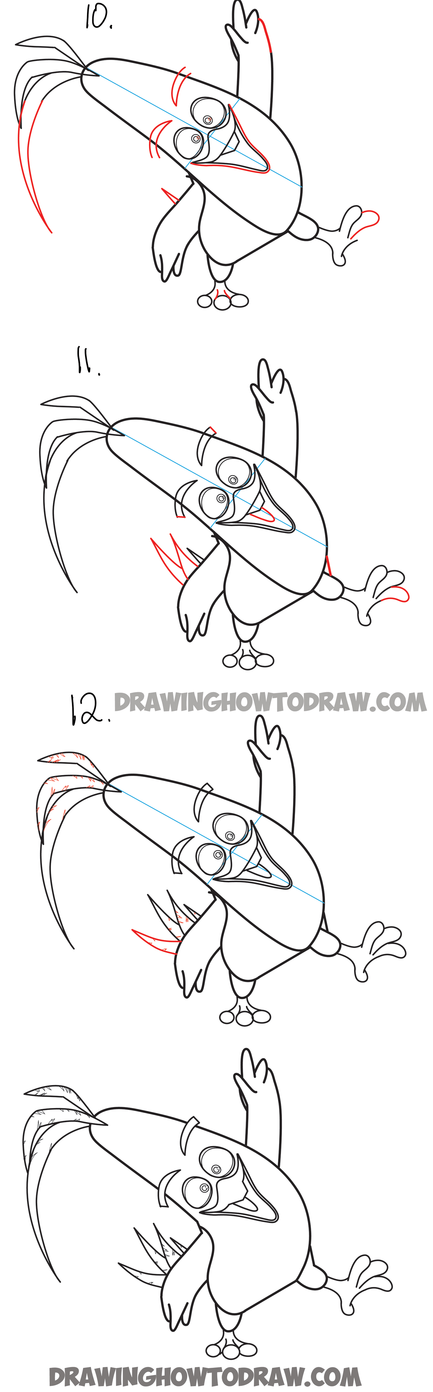 how to draw chuck the yellow bird from the angry birds movie how