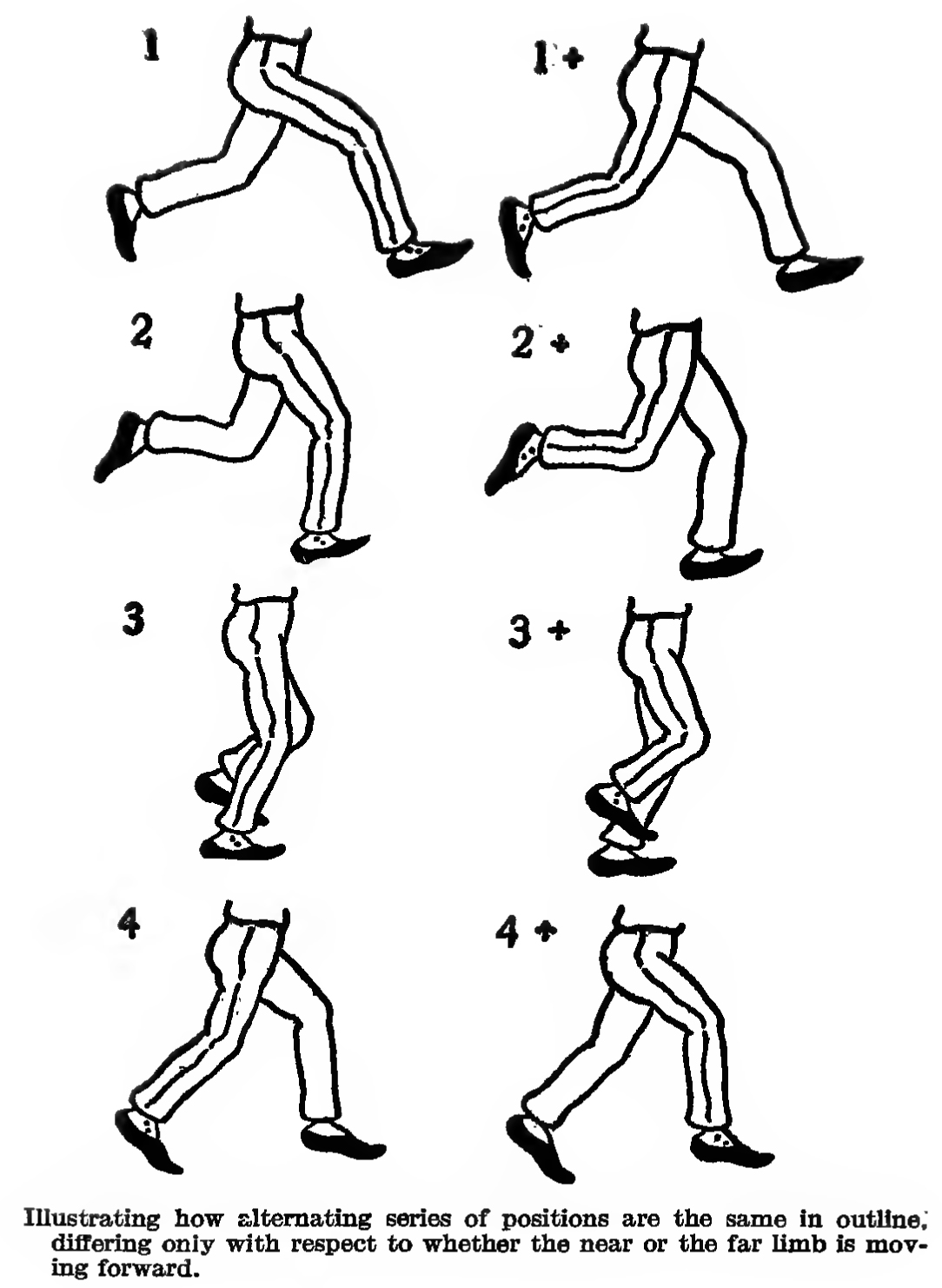 how to draw the legs of a walking person