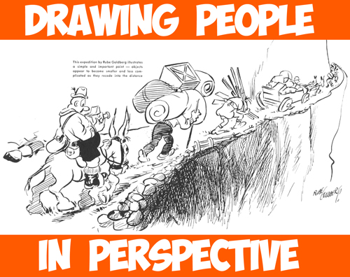 How to Draw Groups of People and Figures in Perspective - Size of Figures in an Illustration
