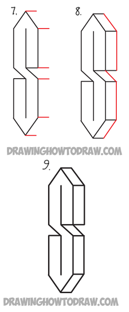 D Shape Line Drawings : Learn how to turn lines into the coolest letter s easy