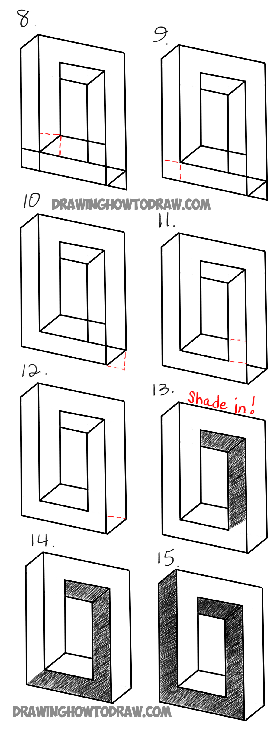 How To Draw An Impossible Square Or Rectangle Easy Step By Step