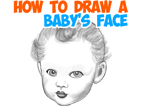 how to draw a babys face and head in the right proportions