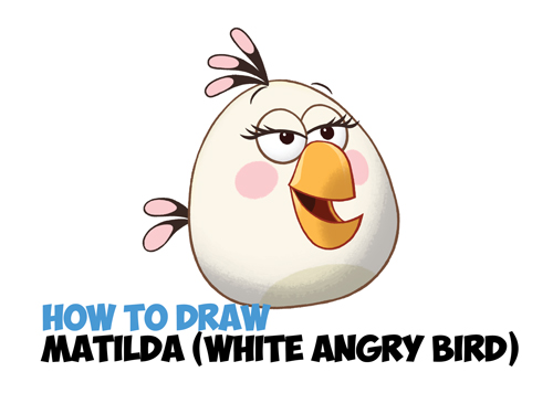 how to draw white angry bird matilda