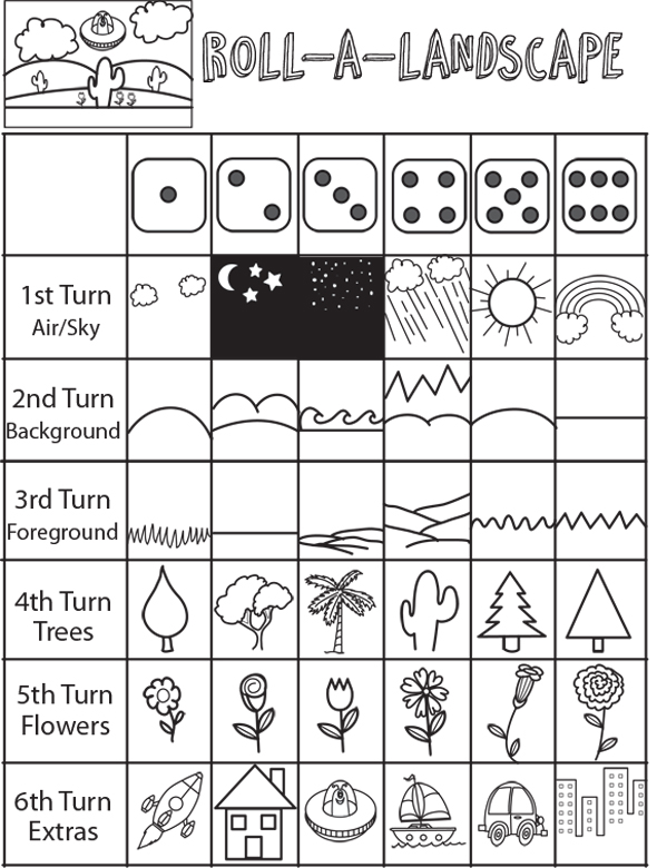 Scribble Drawing Game : Drawing games for kids roll the dice game how