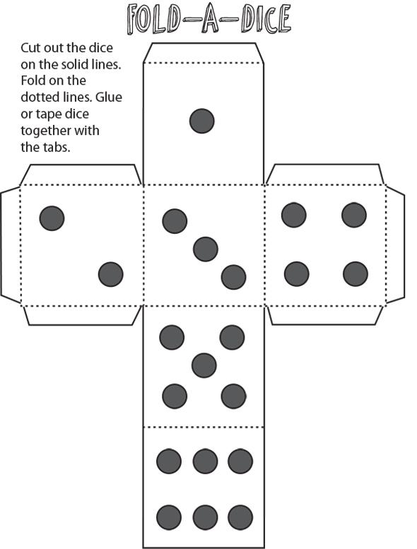 Dice Folding Template