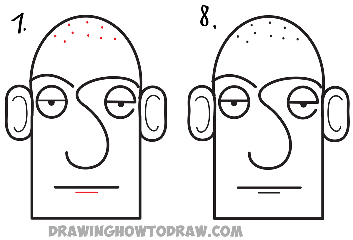 Learn how to draw a cartoon face easiest way for kids to learn how to