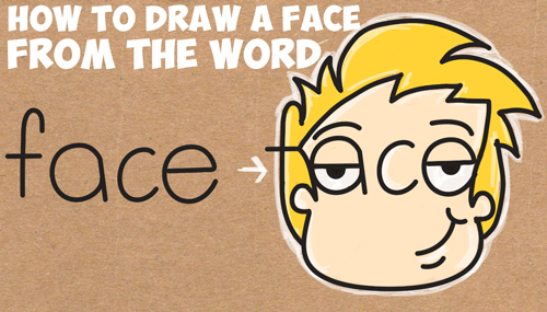 how to draw cartoon faces word toons lesson