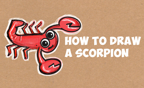 how to draw a scorpion easy step by step drawing tutorial
