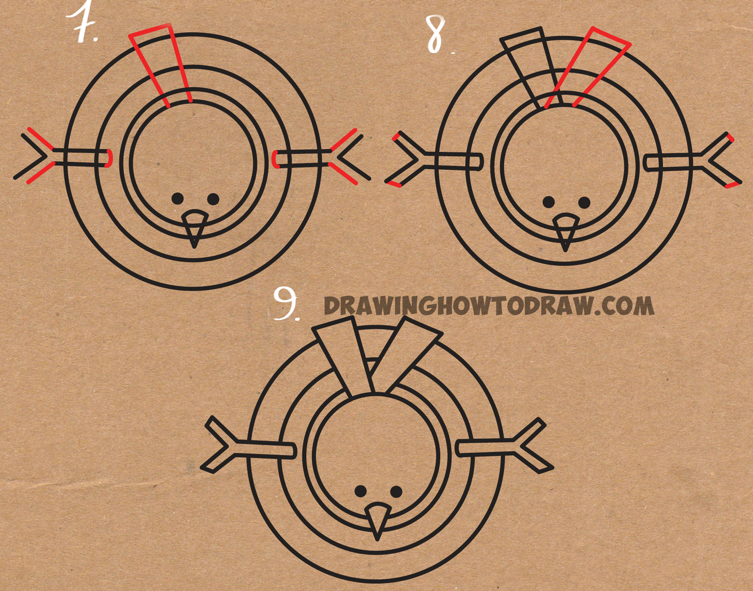 learn how to draw cartoon snowman from above
