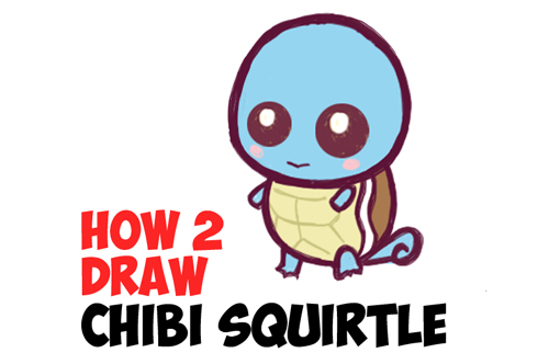 How to draw cute baby chibi squirtle from pokemon easy step by step drawing tutorial how to draw step by step drawing tutorials