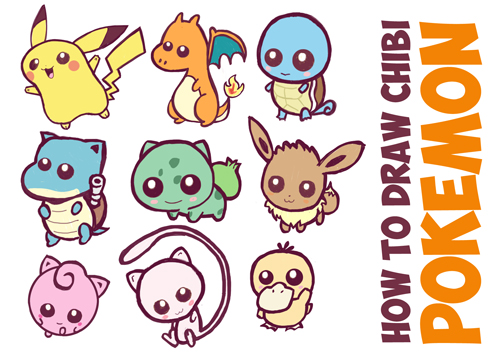 How to Draw Cute Baby Chibi Pokemons - Huge Chibi Pokemon Guide