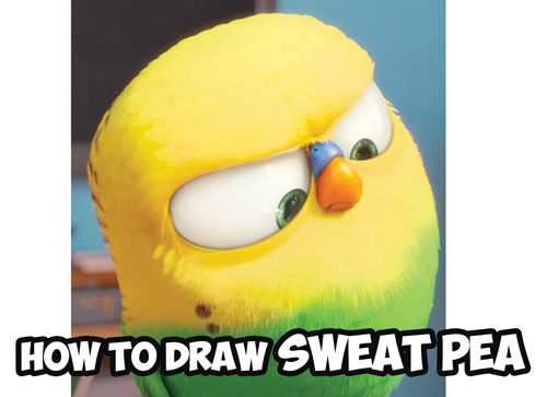 How to Draw Sweet Pea the Bird from The Secret Life of Pets - Drawing Tutorial