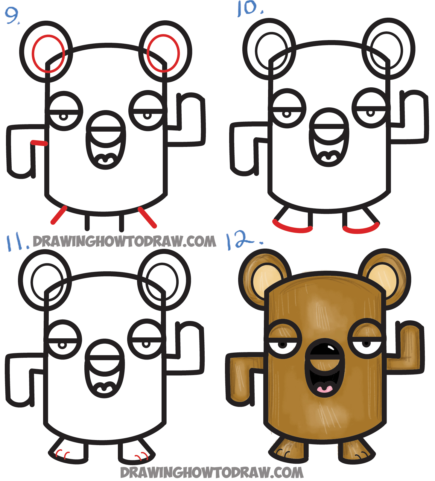 Uncategorized How To Draw A Bear For Kids how to draw a cartoon bear from the word tutorial for