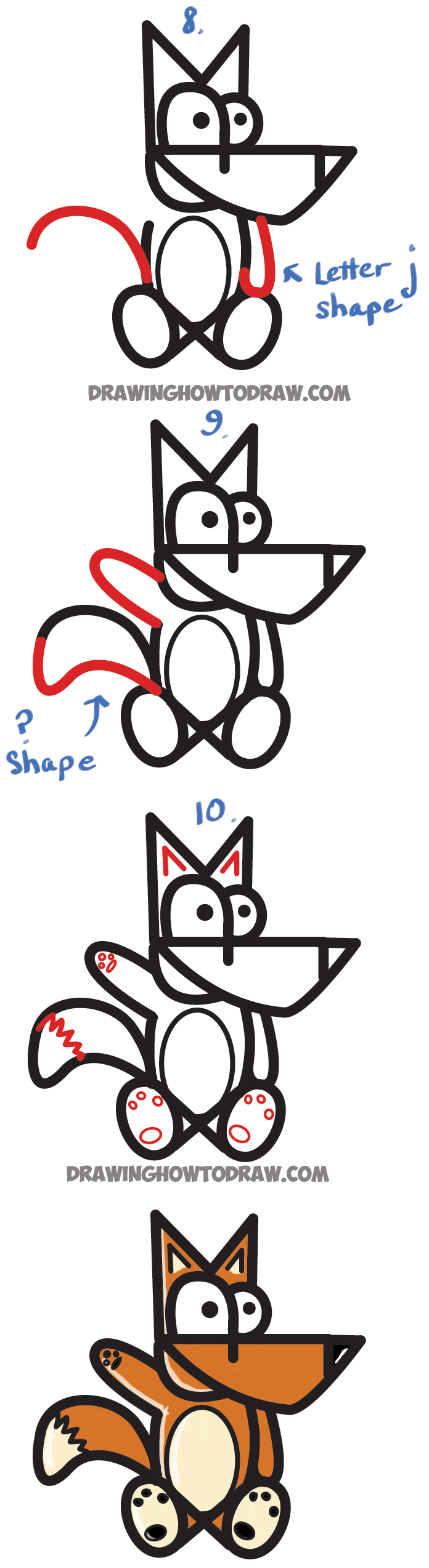 learn how to draw a cartoon fox from the word fox - word toons