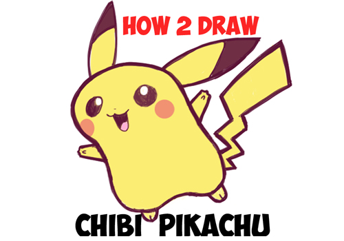 How To Draw Cute Baby Chibi Pikachu From Pokemon