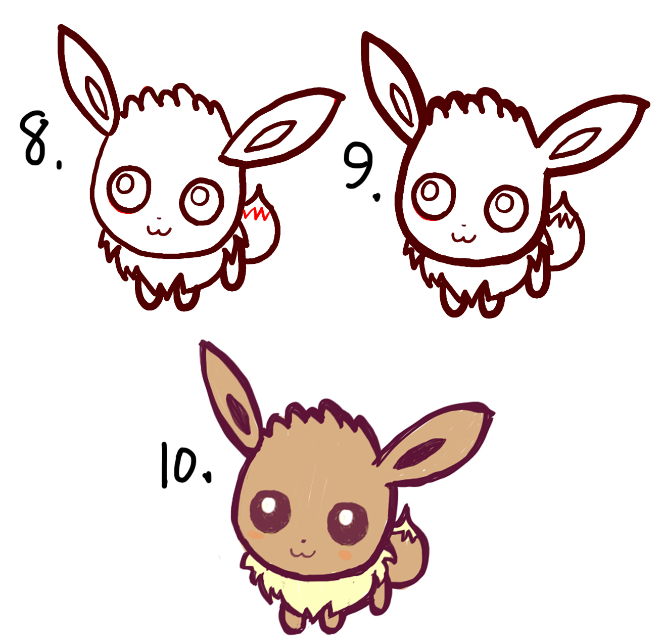 How to draw cute baby chibi eevee from pokemon easy step by step learn how to draw cute chibi baby eevee in easy steps biocorpaavc Choice Image