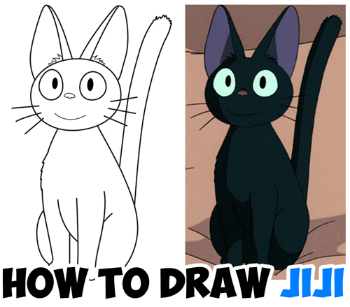 how to draw the cat from kikis delivery service - jiji