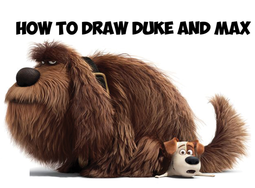 Learn how to draw max and duke the dogs from the secret life of pets in easy steps
