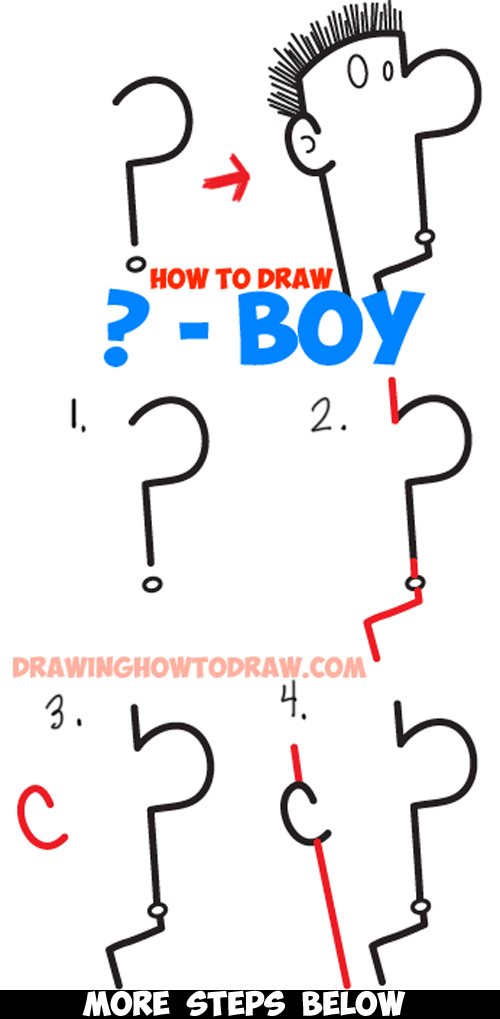 Scribble Drawing Questions : How to draw a question mark cartoon character s face in