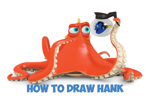 Learn How to Draw Hank the Octopus and Dory from Finding Dory - Step by Step Drawing Tutorial