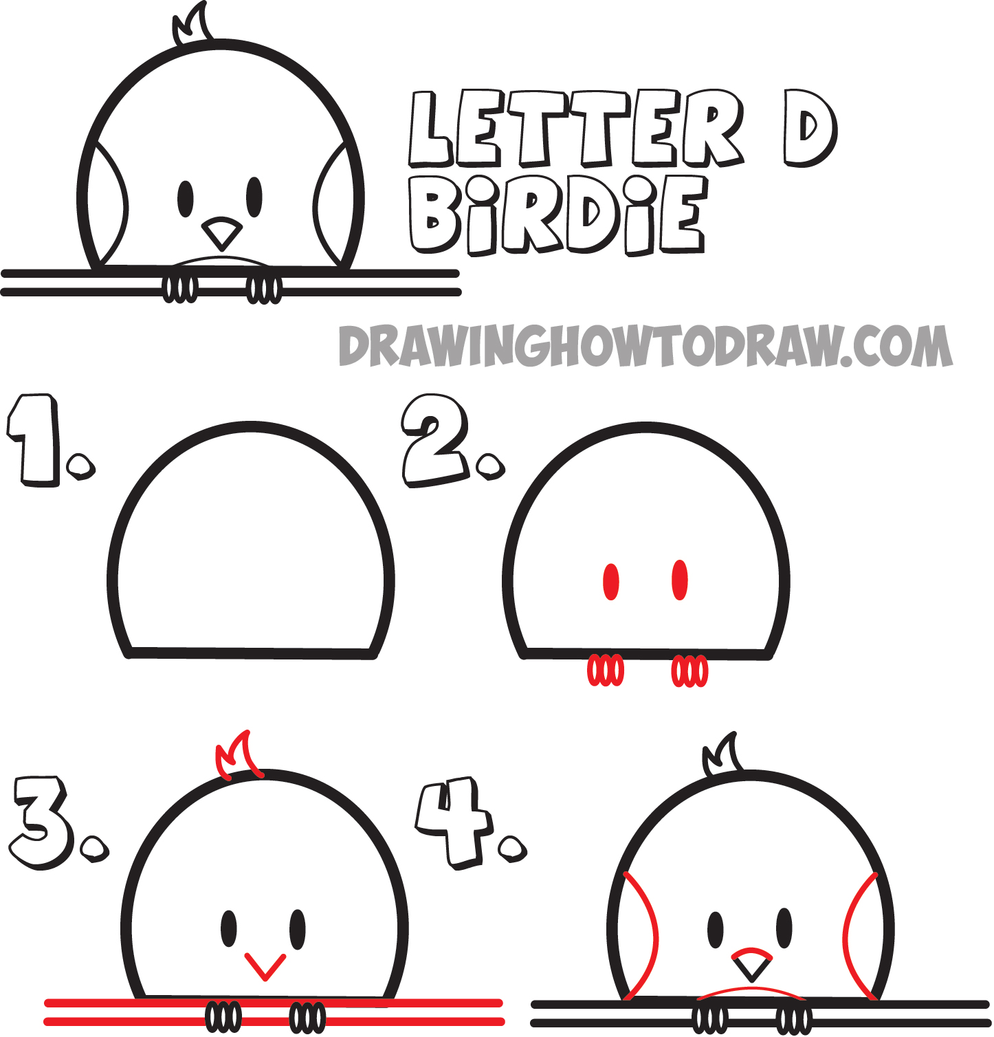 Uncategorized How To Draw Step By Step For Kids Animals huge guide to drawing cartoon animals from the uppercase letter d learn how draw birds d