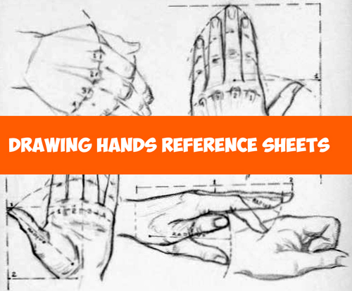 How to Draw Hands - Reference Sheets and Guides to Drawing Hands