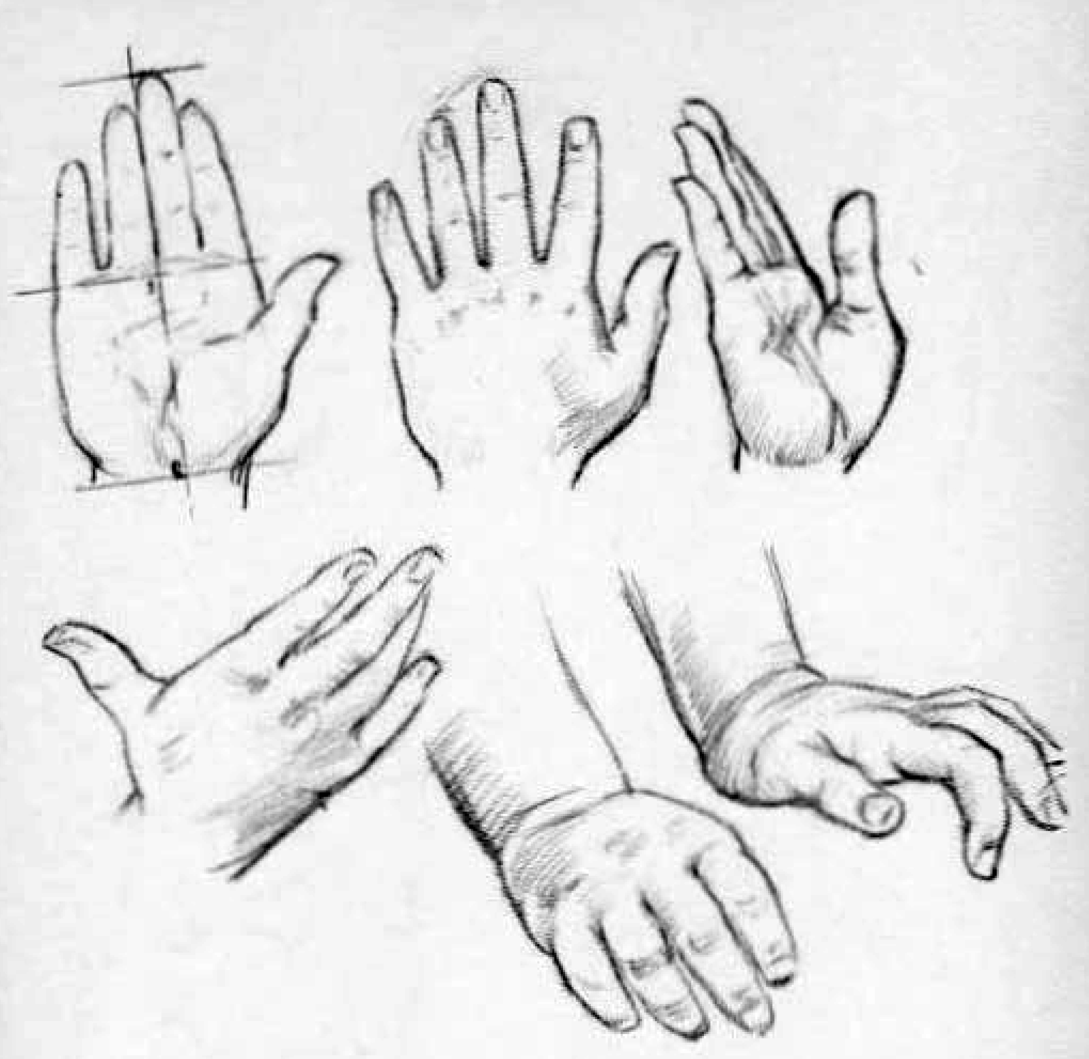 how to draw kids childrens hands - drawing kids hands