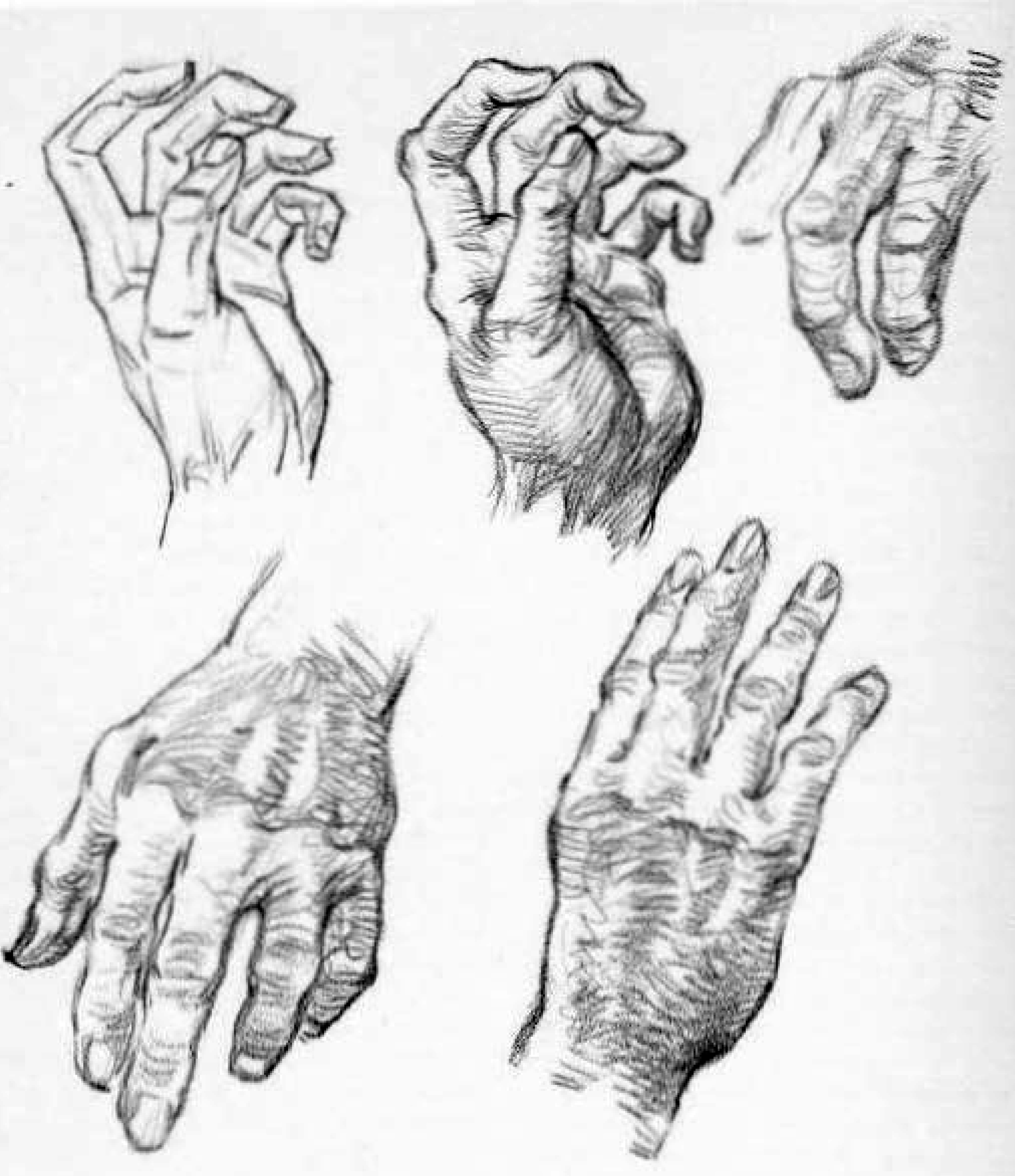how to draw old wrinkly hands