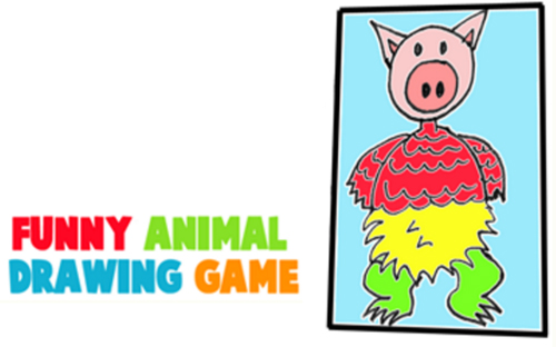 Create Silly Animals and Creatures with this Fun Family Drawing Game